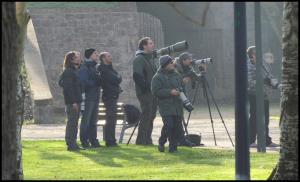 Algunos de los observadores presentes (30-12-2012)
