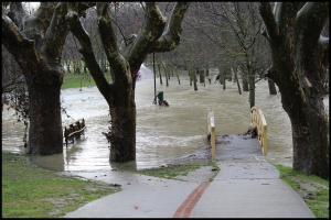 Nivel del agua el día 16 (el día anterior había sido aún mayor)(16-1-2013)