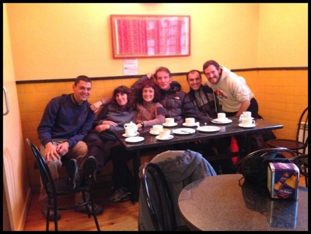 De izquierda a derecha: David, Orre, Itzi, Julen, Iñigo y Dani (28-5-2013)