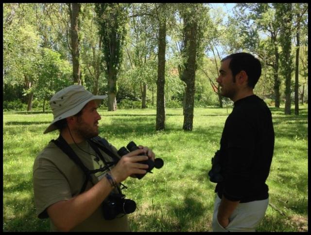 Un servidor e Iñigo Mazkiaran en el parque (24-6-2013)