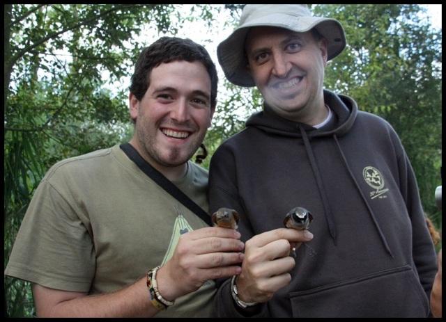 Servidor y Javi con los colirrojos reales (11-9-2013)