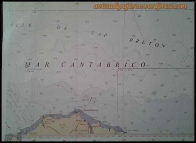 Mapa de la zona visitada (16-10-2013)