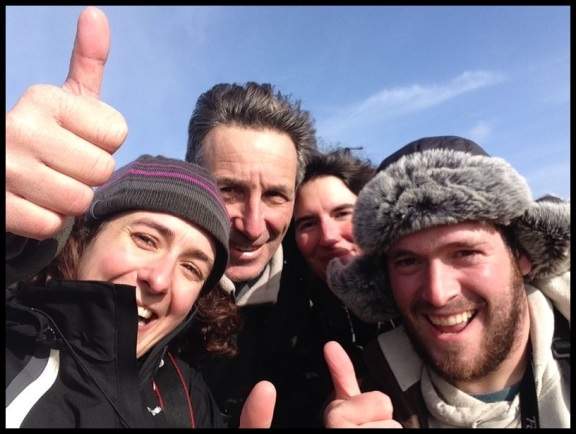 Con el amigo frances; Itziar Almarcegui (5-2-2014)