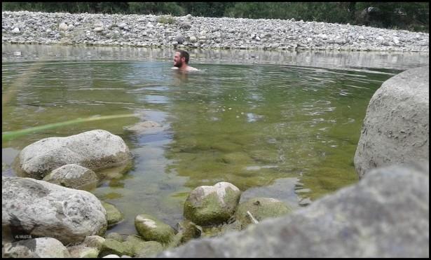 Baño en el río Ara (16-7-2015)