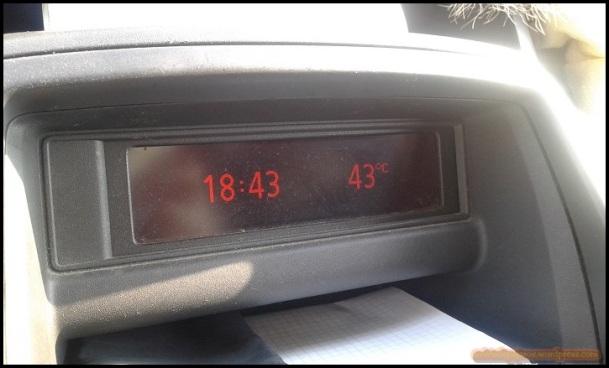 Termómetro en el coche (29-6-2015)