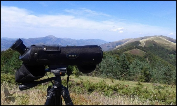 Telescopio en un bonito paisaje (26-8-2015)