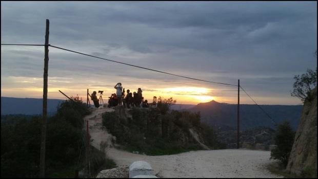 Observando desde el oteadero (9-12-2015); Paco González