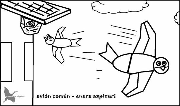 Avión b y n